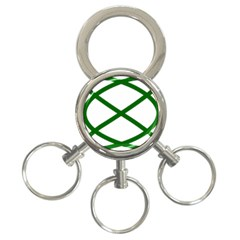 Lissajous Small Green Line 3 Ring Key Chains by Mariart