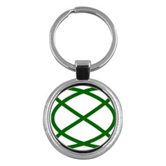 Lissajous Small Green Line Key Chains (round)  by Mariart