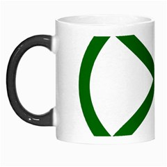 Lissajous Small Green Line Morph Mugs by Mariart