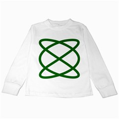 Lissajous Small Green Line Kids Long Sleeve T Shirts by Mariart