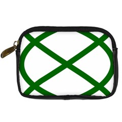 Lissajous Small Green Line Digital Camera Cases by Mariart