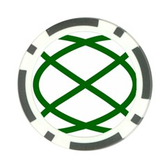 Lissajous Small Green Line Poker Chip Card Guard (10 Pack)