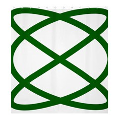Lissajous Small Green Line Shower Curtain 66  X 72  (large)  by Mariart
