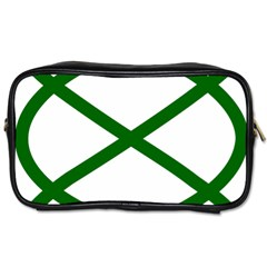Lissajous Small Green Line Toiletries Bags by Mariart