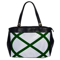 Lissajous Small Green Line Office Handbags by Mariart