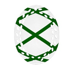 Lissajous Small Green Line Oval Filigree Ornament (two Sides) by Mariart