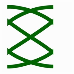 Lissajous Small Green Line Small Garden Flag (two Sides)