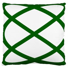 Lissajous Small Green Line Large Cushion Case (one Side) by Mariart