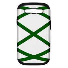 Lissajous Small Green Line Samsung Galaxy S Iii Hardshell Case (pc+silicone) by Mariart