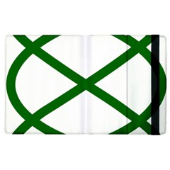 Lissajous Small Green Line Apple Ipad 2 Flip Case by Mariart