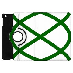 Lissajous Small Green Line Apple Ipad Mini Flip 360 Case by Mariart
