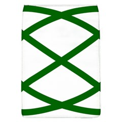Lissajous Small Green Line Flap Covers (l)  by Mariart