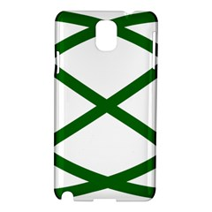 Lissajous Small Green Line Samsung Galaxy Note 3 N9005 Hardshell Case by Mariart