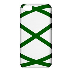Lissajous Small Green Line Apple Iphone 5c Hardshell Case by Mariart