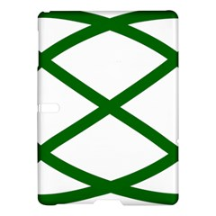 Lissajous Small Green Line Samsung Galaxy Tab S (10 5 ) Hardshell Case  by Mariart