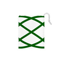 Lissajous Small Green Line Drawstring Pouches (xs)  by Mariart