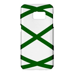 Lissajous Small Green Line Samsung Galaxy S7 Hardshell Case  by Mariart