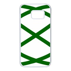 Lissajous Small Green Line Samsung Galaxy S7 White Seamless Case by Mariart