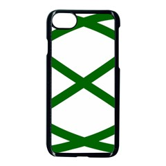 Lissajous Small Green Line Apple Iphone 7 Seamless Case (black)