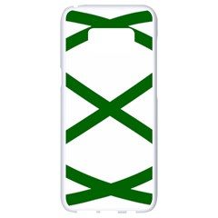 Lissajous Small Green Line Samsung Galaxy S8 White Seamless Case