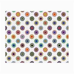 Flowers Pattern Recolor Artwork Sunflower Rainbow Beauty Small Glasses Cloth