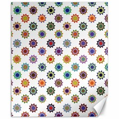 Flowers Pattern Recolor Artwork Sunflower Rainbow Beauty Canvas 8  X 10  by Mariart