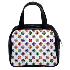 Flowers Pattern Recolor Artwork Sunflower Rainbow Beauty Classic Handbags (2 Sides) by Mariart