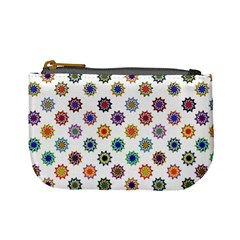 Flowers Pattern Recolor Artwork Sunflower Rainbow Beauty Mini Coin Purses by Mariart
