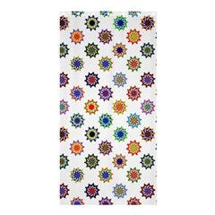 Flowers Pattern Recolor Artwork Sunflower Rainbow Beauty Shower Curtain 36  X 72  (stall)  by Mariart