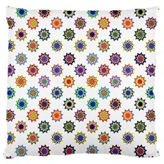 Flowers Pattern Recolor Artwork Sunflower Rainbow Beauty Large Cushion Case (one Side) by Mariart