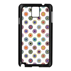 Flowers Pattern Recolor Artwork Sunflower Rainbow Beauty Samsung Galaxy Note 3 N9005 Case (black) by Mariart