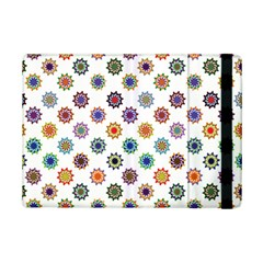 Flowers Pattern Recolor Artwork Sunflower Rainbow Beauty Ipad Mini 2 Flip Cases by Mariart
