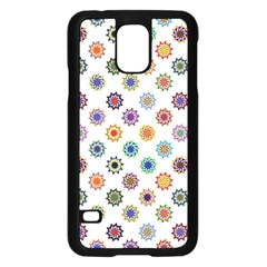Flowers Pattern Recolor Artwork Sunflower Rainbow Beauty Samsung Galaxy S5 Case (black) by Mariart