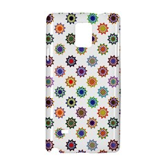 Flowers Pattern Recolor Artwork Sunflower Rainbow Beauty Samsung Galaxy Note 4 Hardshell Case by Mariart