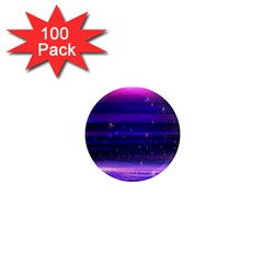 Massive Flare Lines Horizon Glow Particles Animation Background Space 1  Mini Magnets (100 Pack)  by Mariart