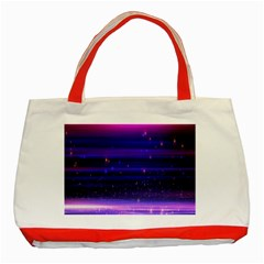 Massive Flare Lines Horizon Glow Particles Animation Background Space Classic Tote Bag (red) by Mariart