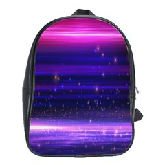 Massive Flare Lines Horizon Glow Particles Animation Background Space School Bag (large)