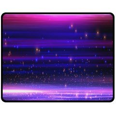 Massive Flare Lines Horizon Glow Particles Animation Background Space Fleece Blanket (medium)  by Mariart