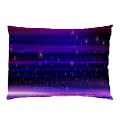 Massive Flare Lines Horizon Glow Particles Animation Background Space Pillow Case (two Sides) by Mariart