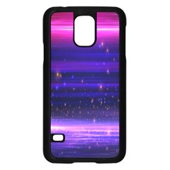 Massive Flare Lines Horizon Glow Particles Animation Background Space Samsung Galaxy S5 Case (black) by Mariart