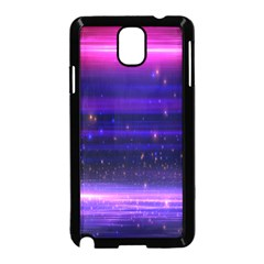 Massive Flare Lines Horizon Glow Particles Animation Background Space Samsung Galaxy Note 3 Neo Hardshell Case (black) by Mariart