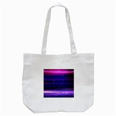 Massive Flare Lines Horizon Glow Particles Animation Background Space Tote Bag (white) by Mariart