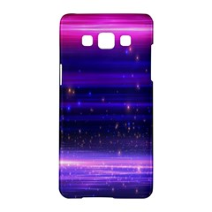 Massive Flare Lines Horizon Glow Particles Animation Background Space Samsung Galaxy A5 Hardshell Case  by Mariart