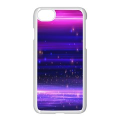 Massive Flare Lines Horizon Glow Particles Animation Background Space Apple Iphone 7 Seamless Case (white) by Mariart