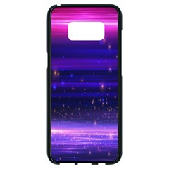 Massive Flare Lines Horizon Glow Particles Animation Background Space Samsung Galaxy S8 Black Seamless Case