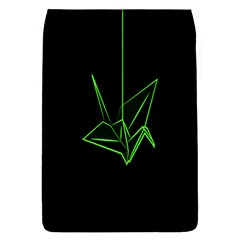 Origami Light Bird Neon Green Black Flap Covers (l)
