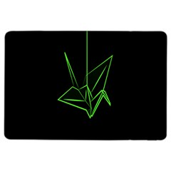 Origami Light Bird Neon Green Black Ipad Air 2 Flip by Mariart