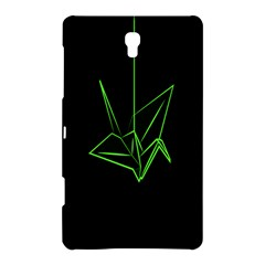 Origami Light Bird Neon Green Black Samsung Galaxy Tab S (8 4 ) Hardshell Case  by Mariart