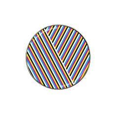 Lines Chevron Yellow Pink Blue Black White Cute Hat Clip Ball Marker by Mariart