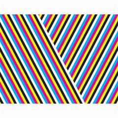 Lines Chevron Yellow Pink Blue Black White Cute Canvas 18  X 24   by Mariart
